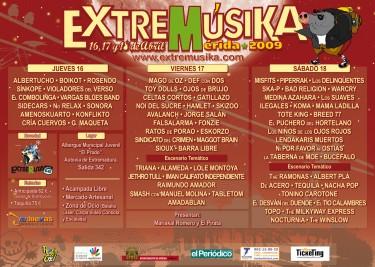 Cartel del Extremúsika 2009