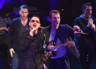Bono y Chris Martin