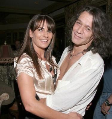 Eddie Van Halen y su mujer