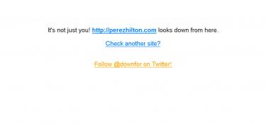 Página de Perez Hilton caída