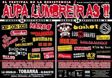 Cartel del Aupa Lumbreiras 2009
