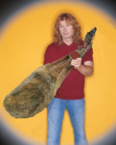 Dave Mustaine y el jamón serrano, su debilidad