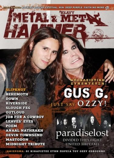 Gus G y Ozzy Osbourne en Metal Hammer