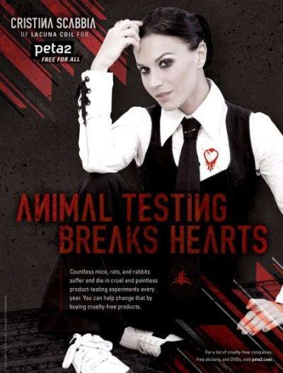 Cristina Scabbia posando para la PETA2