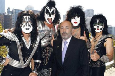 KISS y el alcalde de A Coruña