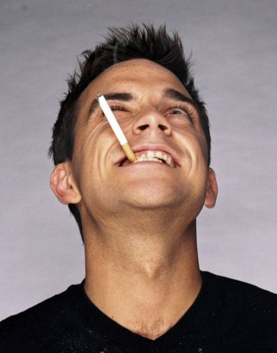 Robbie Williams contento