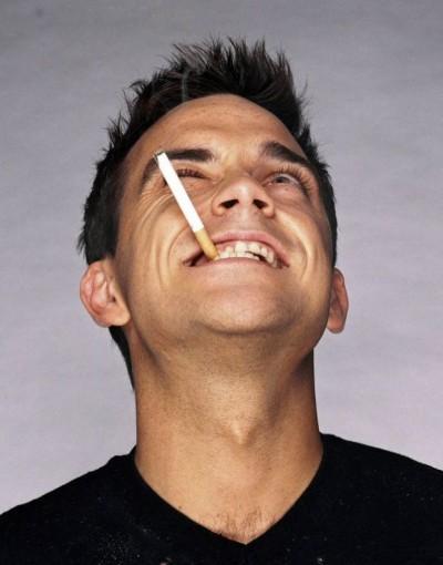 Robbie Williams contento