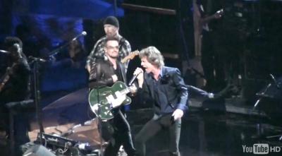 U2 con Mick Jagger