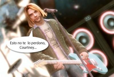 Kurt Cobain en el Guitar Hero 5