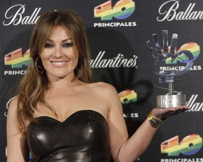 Amaia Montero en los Premios 40 Principales 2009