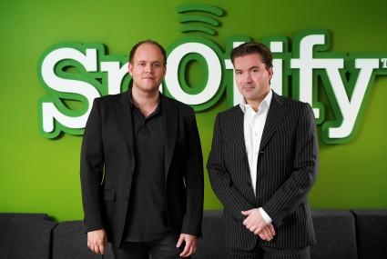 Daniel EK -y Martin Lorentzon, fundadores de Spotify