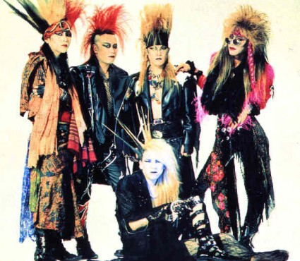 X Japan con sus peinados excéntricos