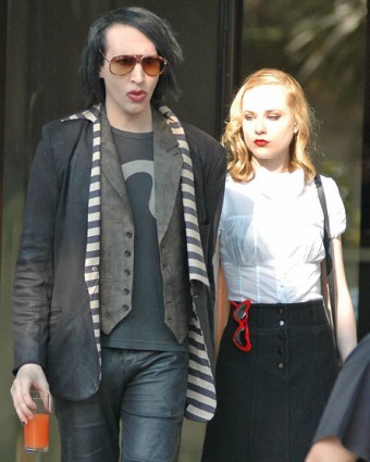 Marilyn Manson y Evan Rachel Wood
