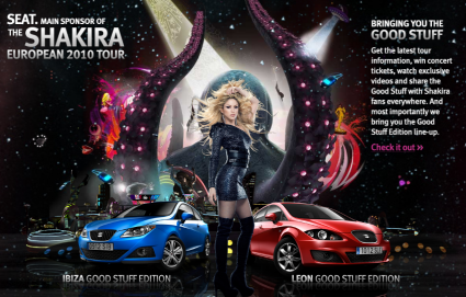 Shakira y la campaña Good Stuff de Seat