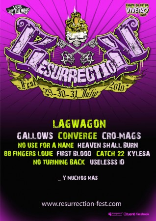 Cartel provisional del Resurrection Fest 2010