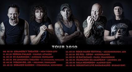Accept y las fechas de su tour