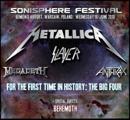 Sonisphere Polonia - Big Four