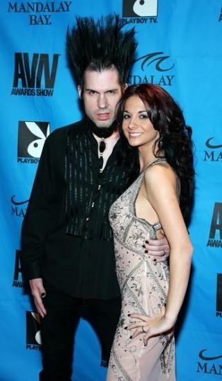 Wayne Static y su mujer