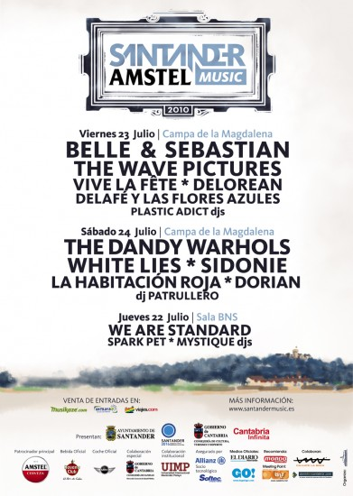 Cartel del Santander Amstel Music 2010