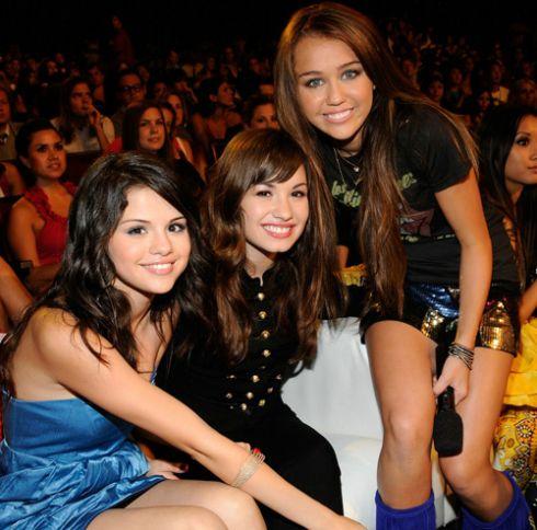 Cyru Miley Selena Gomez and Demi Lovato