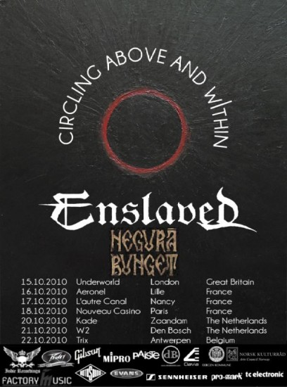 Cartel de la gira Circling Above And Within de Enslaved