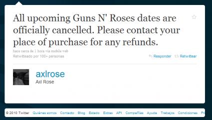 Twitter de Axl Rose