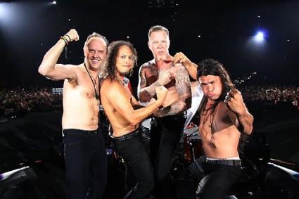 Metallica a toso descubierto