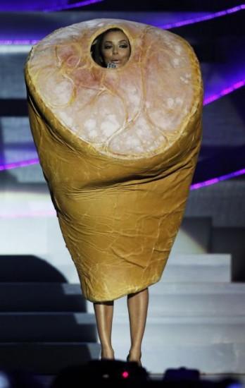 Eva Longoria vestida de jamón