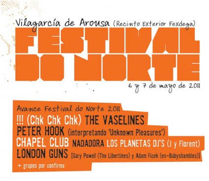 Festival do Norte 2011 - Cartel temporal
