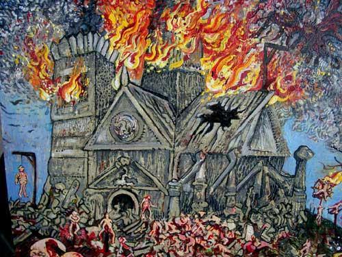 Iglesia ardiendo