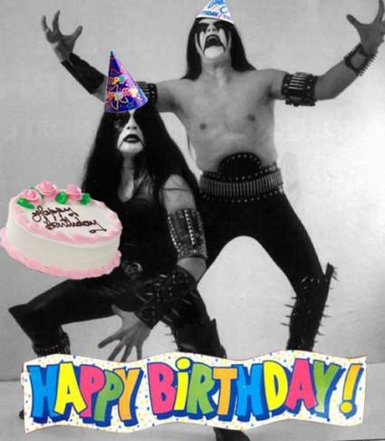 Immortal felicitando al equipo de Tanaka Music por su cumpleaños