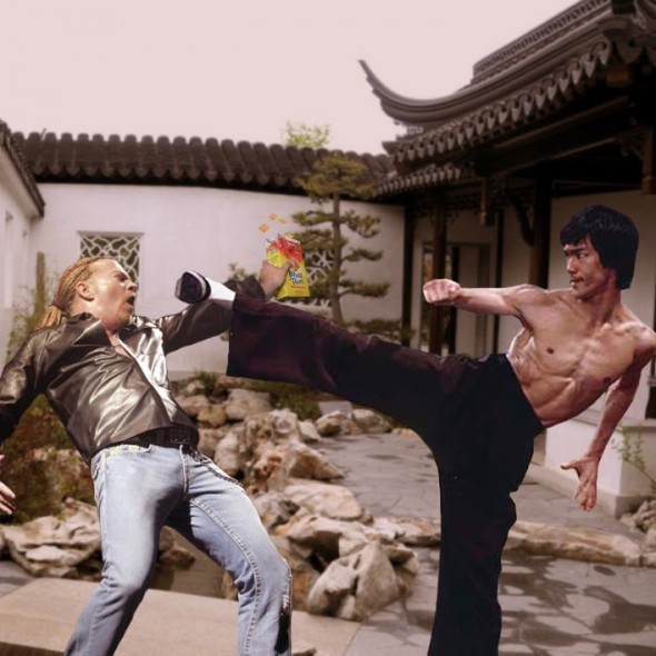 Axl Rose vs Bruce Lee