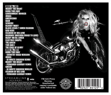 Lady GaGa - Born This Way (Special Edition) (tracklist)