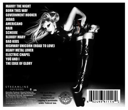 Lady GaGa - Born This Way (tracklist)
