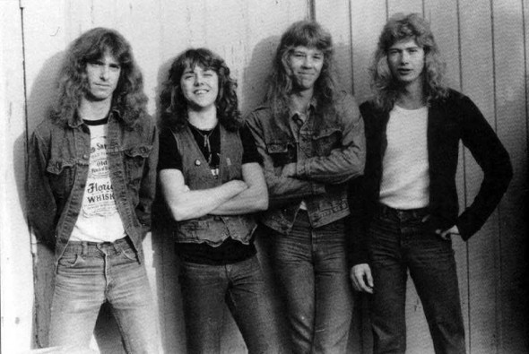 Metallica con Mustaine y Cliff