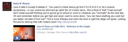 Guns N' Roses facebook