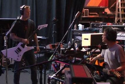 James Hetfield y Lou Reed
