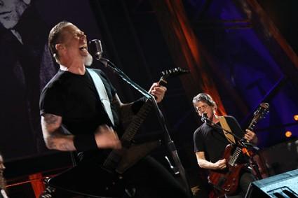 James Hetfield y Lou Reed cantando