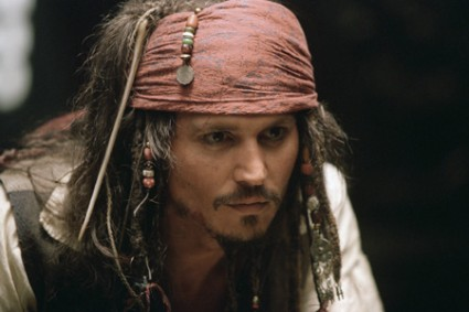 El pirata Johnny Depp Jack Sparrow