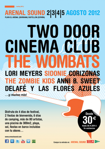 Arenal Sound 2012 (Cartel)