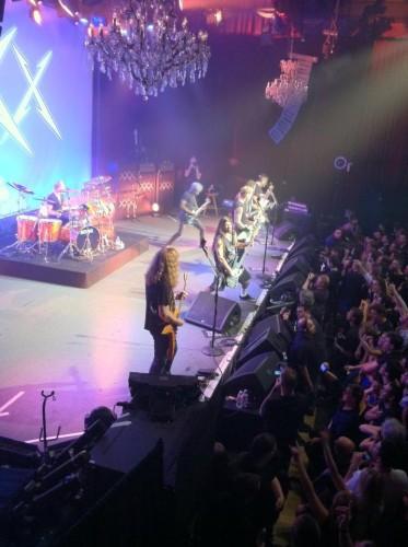 Metallica con Dave Mustaine, Ron McGovney y Lloyd Grant