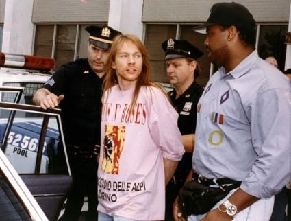 Axl Rose detenido