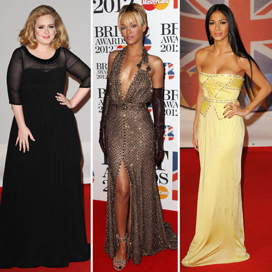Adele, Rihanna y Nicole Scherzinger en los Brit Awards