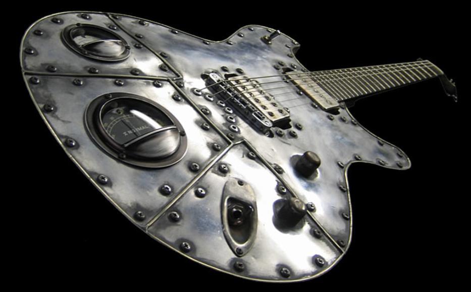 Guitarra usada en el metal