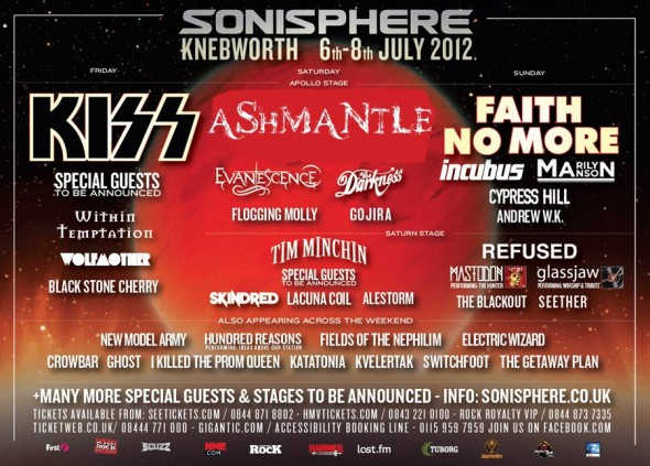 Sonisphere UK 2012