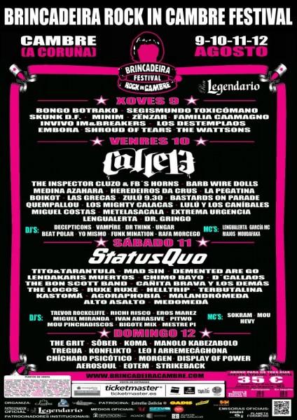 Brincadeira Festival 2012 - Cartel por días