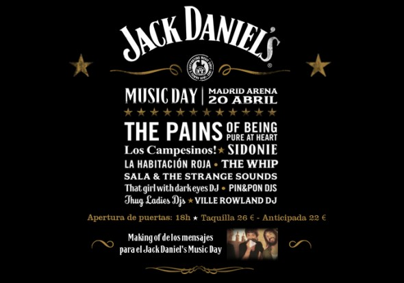 Cartel Jack Daniel's music day