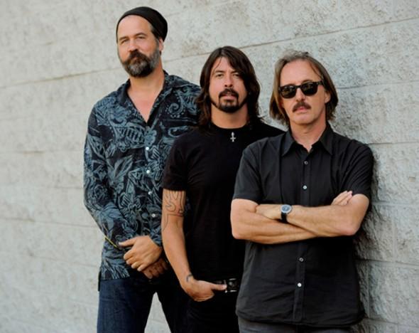 Kris Novoselic, Dave Grohl y Butch Vig