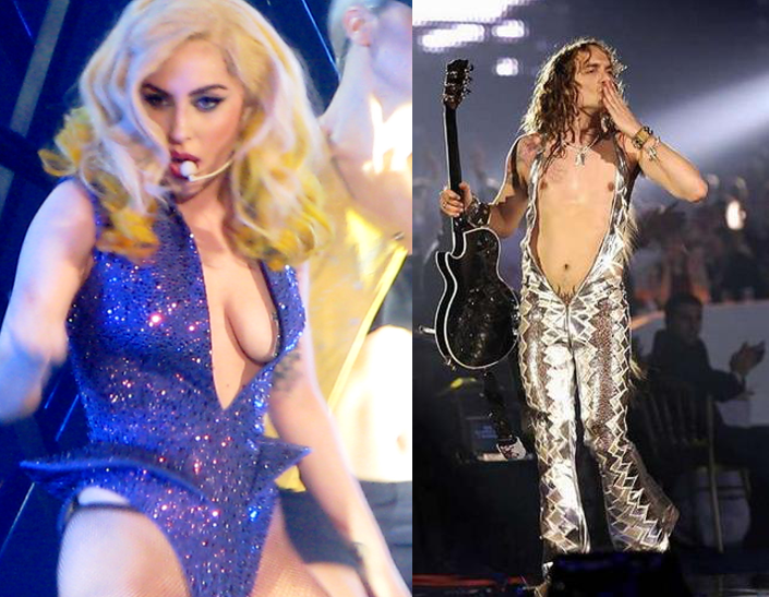 Lady GaGa y Justin Hawkins (The Darkness)