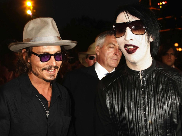 Marilyn Manson y Johnny Depp